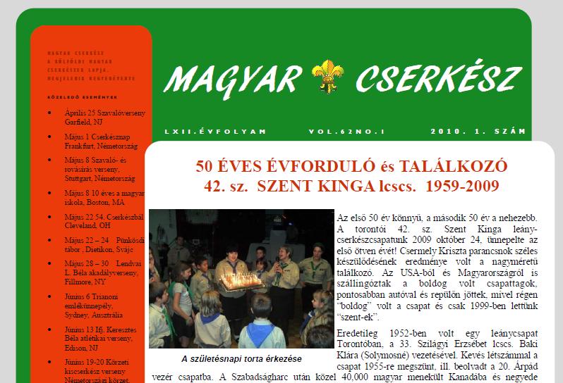 Magyar Cserkész – 2010. 1. szám